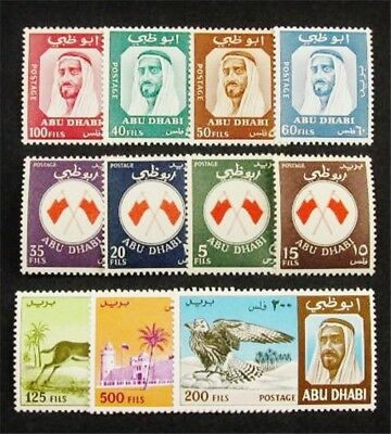 nystamps British Abu Dhabi Stamp # 26 - 36 Mint OG H / NH $78