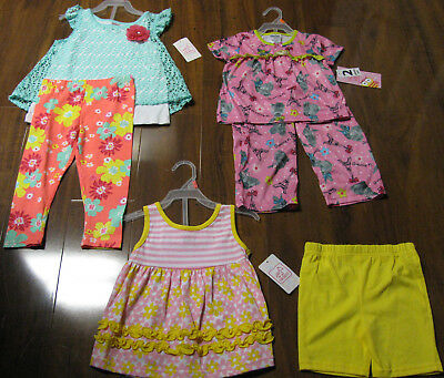 6 Piece Lot of Baby Girls Spring Summer Clothes Size 2 Toddler NWT 2T NEW