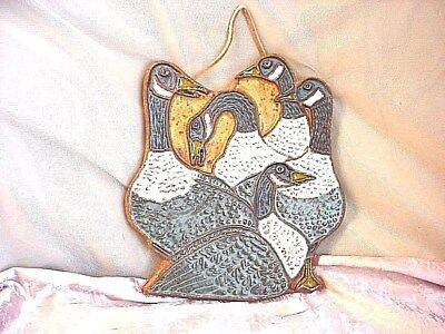Canadian Goose Plaque Victoria Littlejohn 8 inch Clay Pottery Picture