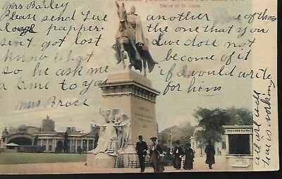 Post Card:  Louisiana Purchase Exposition - St. Louis, 1904  Statue of St Louis