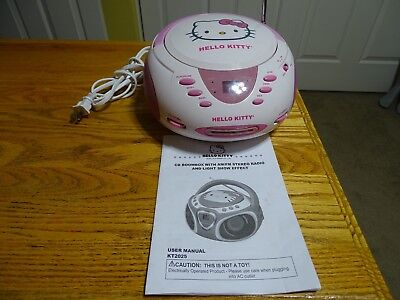 2013 Sanrio Hello Kitty Cd Boombox Am/fm Stereo Radio Kt2025 Working No Issues