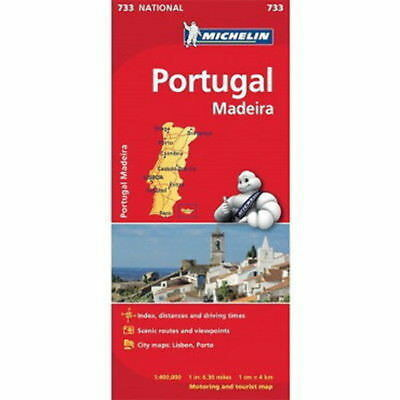 Portugal & Madeira (small) Michelin National Map 733 Motoring and Tourist