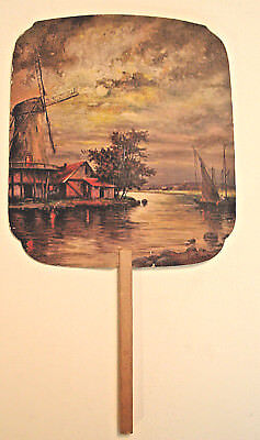 Vintage 1930's ADVERTISING HAND FAN - Shappells Cleaning & Dyeing Hamburg, PA