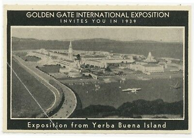 Exposition From Yerba Buena Island Poster Stamp GGIE Invites You In 1939