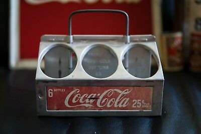 Vintage Coca Cola Bottle Carrier 6 Bottles 25c