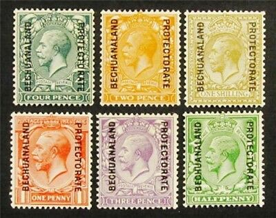 nystamps British Bechuanaland Protectorate Stamp # 96 // 104 Mint OG H $30