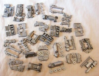 29 Cracker Jack Plastic Prizes Silver Train Race Car Tractor Cement Truck  Toys