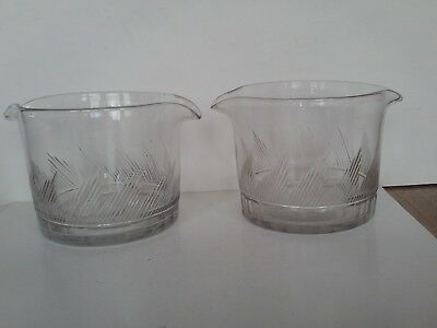 Pair of Antique Georgian cut glass rinser or finger rbowls