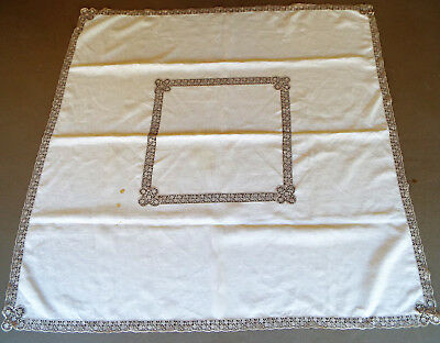 """Antique 51"""" Crocheted Table Cloth"""