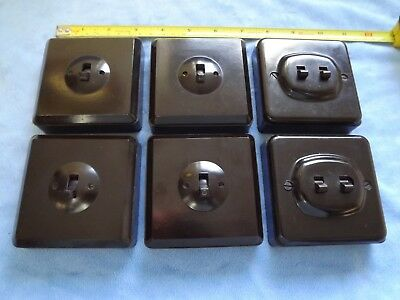 Vintage Bakelite Light Switches Contactum