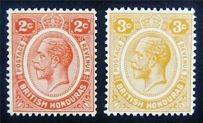 nystamps British Honduras Stamp # 94 95 Mint OG H $40