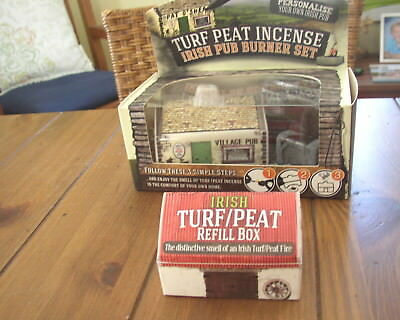 Irish Turf or Peat Irish Pub Incense Burner Set and One extra Refill Box
