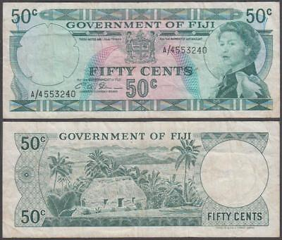 ND (1971) Government of Fiji Queen Elizabeth II 50 Cents