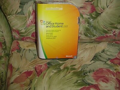 Microsoft Office Home & Student 2007  (DVD, 2007) w/product key, Licensed 3 pcs