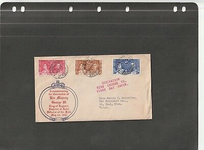 Bermuda - Fdc Cover Coronation Of K. George Vi (1937)