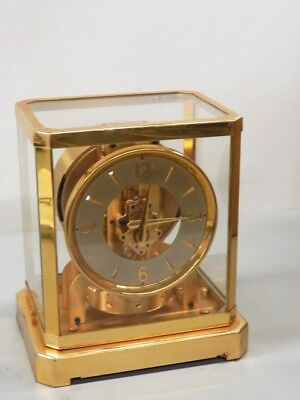 Le Coultre Atmos Glass & Brass Atmospheric Pressure Powered Clock - CED