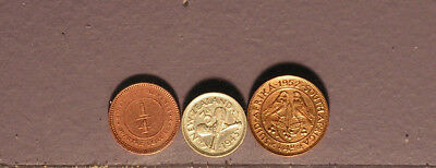 Three Commonwealth Coins. One Silver. Excellent coins. Approaching AU.