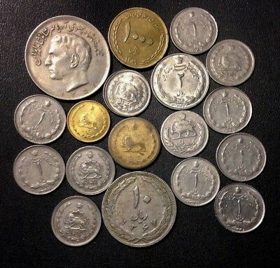 Old Iran Coin Lot - HIGH GRADE - 1939-Present - 18 SCARCE COINS - Lot #M18