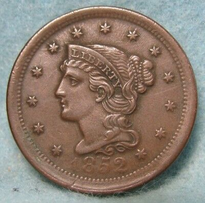 1852 Braided Hair Large Cent CHOICE XF++ * US Coin *