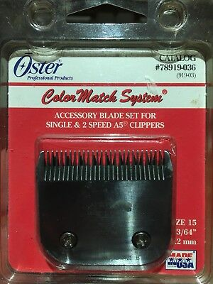 Oster A5 Clipper Replacement Blade 78919-036 Barber Salon Hair 919-03 Size 15