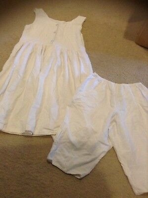 Vintage Cottage And Castle Slip And Bloomers Size M 8-10 Girls