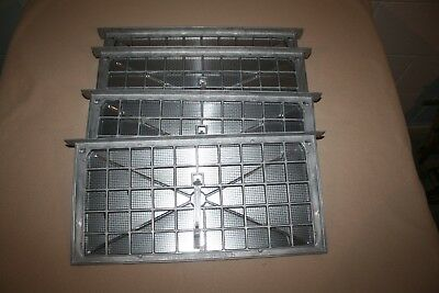 Lot of 4 Foundation Air Vents #86135ALDP Aluminum Damper with Lintel