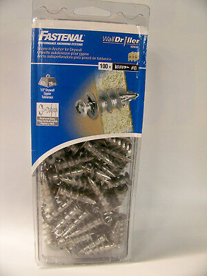 "Fastenal ""wall Drillers"" #8 Screw-In Anchors For Drywall 100 Pcs. #50930"