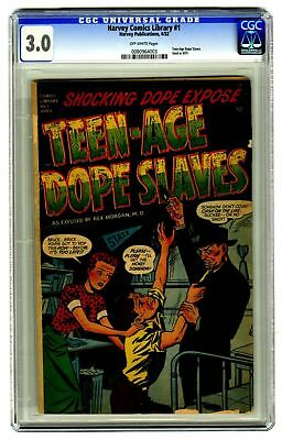 Harvey Comics Library #1 CGC 3.0 VINTAGE Golden Age 10c Teen-age Dope Slaves