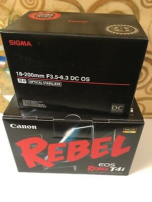 New Canon EOS Rebel T4i DSLR CAMERA with Sigma 18-200mm OS Lens & 8GB SDHC, UV