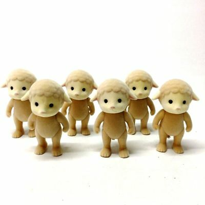 Lot6pcs Sylvanian Families Sheep Family Epoch Animals baby Kids Toy Gift Collect
