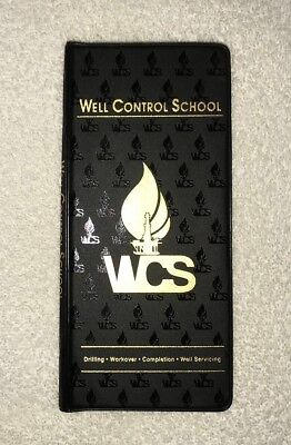 WCS Well Control School tally book notepad oilfield vinyl cover new