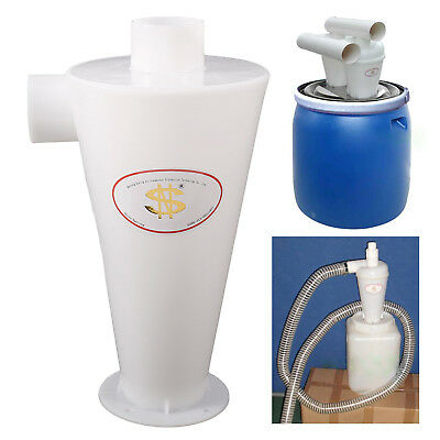 Dust Separation Vacuums Cleaner Filter Dust Collector Cyclone Collector White