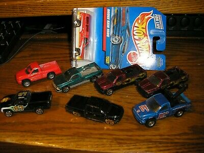 Nice Lot of 8, 7 Different Maisto HW RC Dodge Ram Pickup Trucks Free Shipping