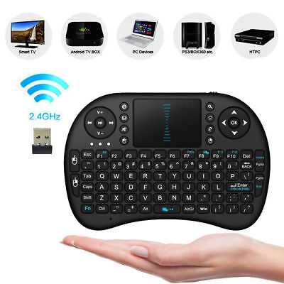 Rii BACKLIT Mini Wireless Keyboard i8 2.4GHz with Touchpad for TV PC android UK