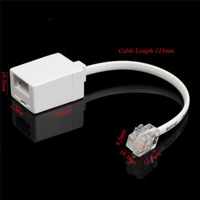BT Socket to RJ11 Plug 4 Pin Telephone Phone Cable Adaptor Converter With cable