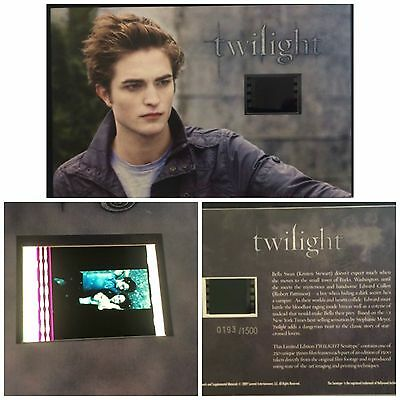 Twilight Robert Pattinson Limited Edition Film Cell Numbered