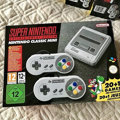 New NINTENDO SNES Classic Mini Console PAL Fully Boxed FREE UK P&P Retro Gaming