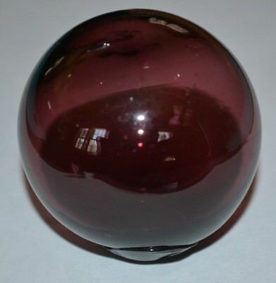 Amethyst Blown Glass Ball Possibly Fishing Float Or Target Ball Inv.# 318-19