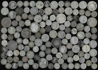 $21.70 FACE VALUE OLD SILVER CANADA COINS (LATTER 1800's to 1967)  > NO RESERVE