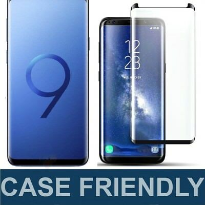 3D Tempered Glass Full Cover Screen Protector For Samsung Galaxy S9 Plus S8 S7