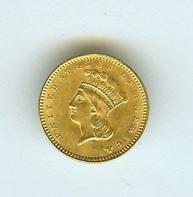 1857 Indian Princess Gold Dollar  Choice Uncirculated