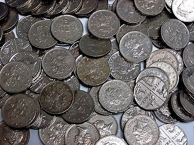 3lb. Lot of British Circulated 5 Pence Coins