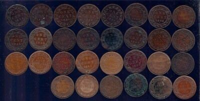 Canada 1859-1919 Large Cent 30 Coin Collection  All Different Dates