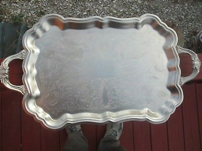 Vintage silver plate waiter tray FB Rogers