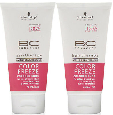 Schwarzkopf BC Color Freeze Colored Ends SPLIT ENDS REPAIR SERUM (pack of 2) 75m