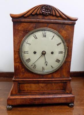 pollard oak double fusee bracket clock cross london