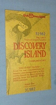 Vintage Walt Disney World Complimentary Discovery Island Ticket 1980 Unused