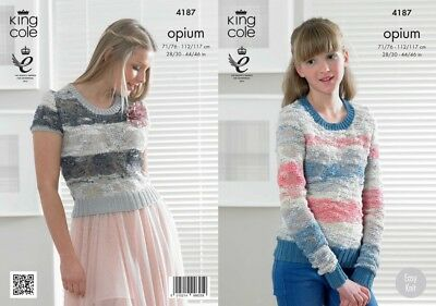 King Cole Knitting Pattern for Sweater and Top King Cole Opium KCP/_4827