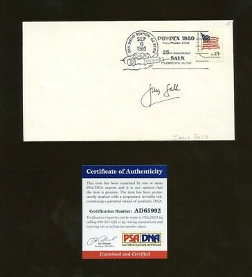 Jonas Salk AUTO Signed Polio Vaccine 25th Anniversary First Day Cover PSA/DNA