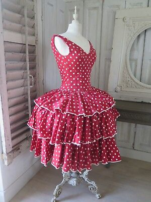 Orig. Vintage THEATER Ballett dress TUTU Costume dress Kleid dots Ruffles
